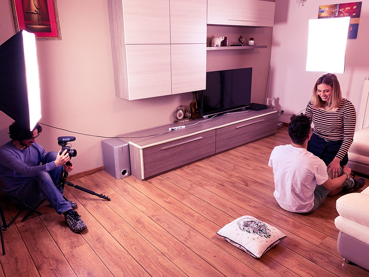 Shooting a scene for Spicify Sexy Card Game video